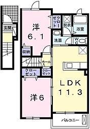 アンジュエールⅢ[2階]の間取り