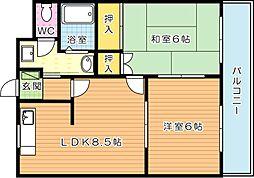 エクシード菊入I[2階]の間取り