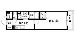 Grande甲子園口[407号室]の間取り