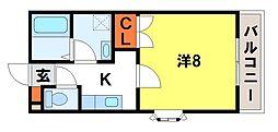 バンベール五条[205号室]の間取り