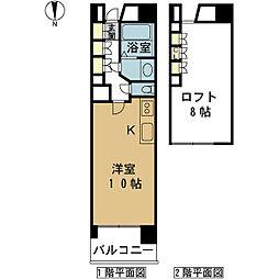 PIER624[3階]の間取り