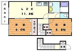 ブライドハウス[2階]の間取り