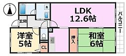 アリビラ北園田[303号室号室]の間取り
