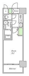 阪神本線 姫島駅 徒歩5分の賃貸マンション 6階1Kの間取り