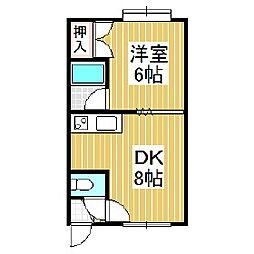 ハイツたんぽぽ[1階]の間取り