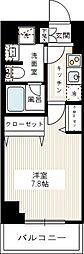 REALIZE蒲田II(レアライズ蒲田ツー) 4階1Kの間取り