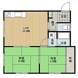 コーポ伊藤B[2階]の間取り