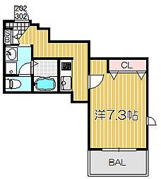 マレーナ洗足[3階]の間取り