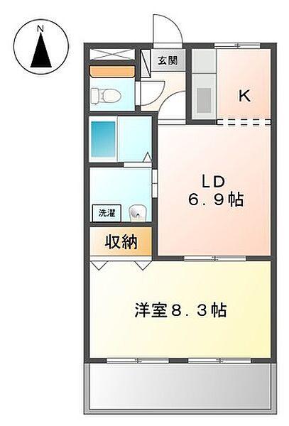 ラ・セーヌ29[2階]の間取り