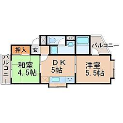 エスポワール武庫之荘[2階]の間取り