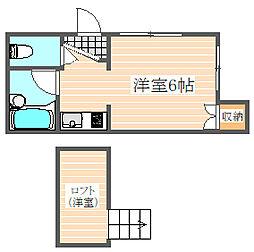 シャーミー箱崎2[1階]の間取り