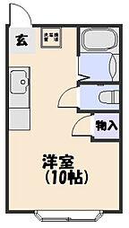 コーポ大翔[301号室]の間取り
