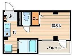神奈川県平塚市紅谷町の賃貸マンションの間取り