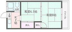 上野荘[102号室]の間取り