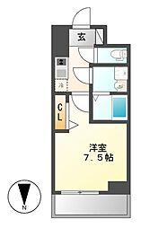 プレサンス桜通ザ・タイムズ[9階]の間取り