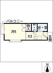 セントラルリバーI[1階]の間取り