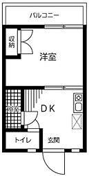 神奈川県相模原市緑区元橋本町の賃貸マンションの間取り