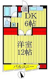 第1アンビルマンション[407号室]の間取り