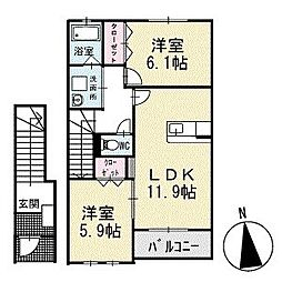 ショウリュウ寿 2階[202号室]の間取り