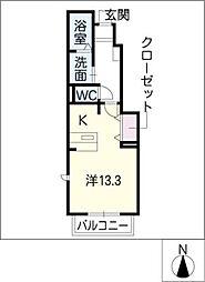 アルモニースクウェアD棟[1階]の間取り