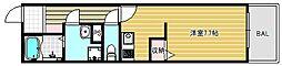 大阪府大阪市中央区糸屋町1丁目の賃貸マンションの間取り