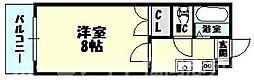 福岡県糟屋郡粕屋町原町2の賃貸アパートの間取り