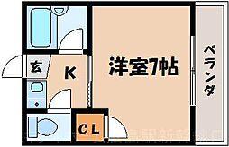広島県広島市東区戸坂山根1丁目の賃貸アパートの間取り