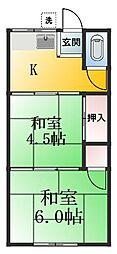 ドミール西一之江[206号室]の間取り