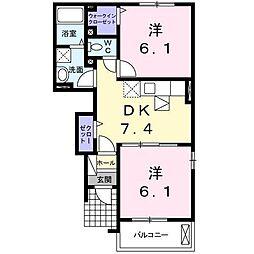 パストラーレA[1階]の間取り