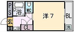 エルヴ源氏ヶ丘[1階]の間取り