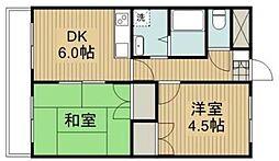 神奈川県相模原市中央区小町通1丁目の賃貸マンションの間取り