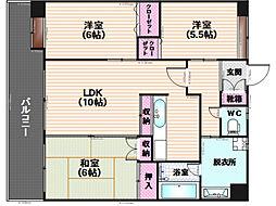 シャトーポルテ[2階]の間取り
