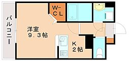 JR香椎線 伊賀駅 徒歩21分の賃貸マンション 5階1Kの間取り