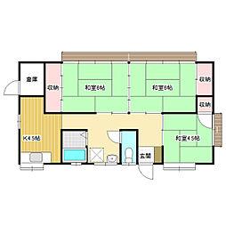[一戸建] 長野県飯田市丸山町2丁目 の賃貸【/】の間取り