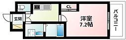 JR東海道・山陽本線 新大阪駅 徒歩8分の賃貸マンション 2階1Kの間取り