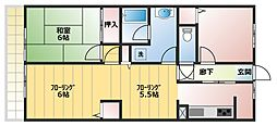 ガーデンライフ久里浜六番館[304号室]の間取り