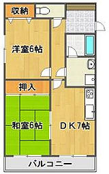 コージィコート21[4階]の間取り