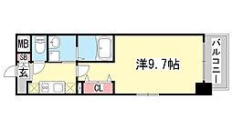 兵庫県神戸市中央区日暮通1丁目の賃貸マンションの間取り