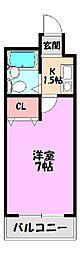 ロイヤル巽[8階]の間取り