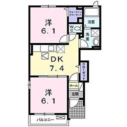 アトレーユII[2階]の間取り