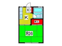 ベルゾーネ宇田川[2階]の間取り