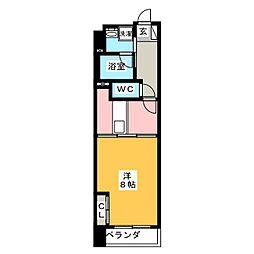 POWERHOUSE the residence 11階1DKの間取り