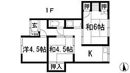 [テラスハウス] 兵庫県川西市花屋敷1丁目 の賃貸【兵庫県 / 川西市】の間取り