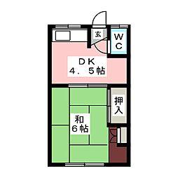 幸美荘[2階]の間取り