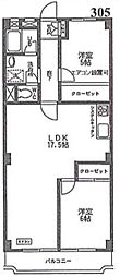 戸田グリーンマンション[305号室]の間取り