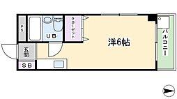ハーミテイジ平池[2階]の間取り
