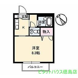 CASA安宅 B[1階]の間取り