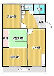 柳田マンション[4階]の間取り