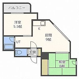 ファンシー西町[3階]の間取り