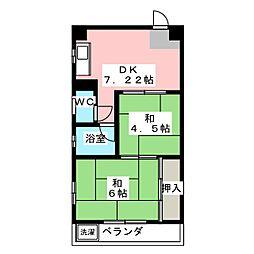 メゾン丹陽[1階]の間取り